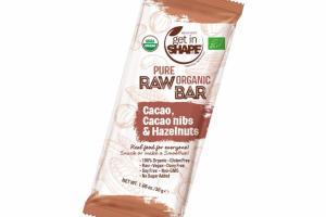 PURE ORGANIC CACAO, CACAO NIBS & HAZELNUTS RAW BAR