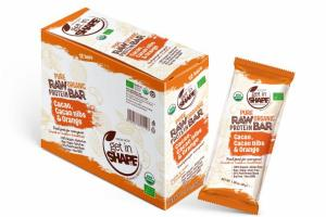 CACAO, CACAO NIBS & ORANGE PURE ORGANIC RAW PROTEIN BAR