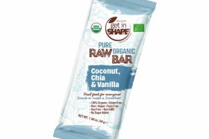COCONUT, CHIA & VANILLA PURE ORGANIC RAW BAR