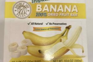 100% TROPICAL BANANA DRIED FRUIT BAR