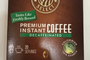 PREMIUM INSTANT DECAFFEINATED COFFEE