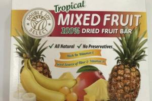 TROPICAL MIXED FRUIT 100% DRIED FRUIT BAR