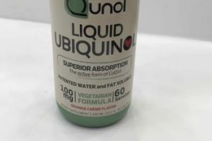 LIQUID UBIQUINOL SUPERIOR ABSORPTION VEGETARIAN FORMULA DIETARY SUPPLEMENT, ORANGE CREME