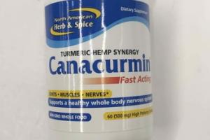CANACURMIN TURMERIC HEMP SYNERGY HIGH POTENCY DOSES DIETARY SUPPLEMENT