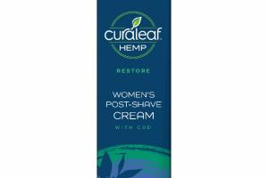 RESTORE WOMEN'S POST-SHAVE CREAM WITH CBD, TEA TREE