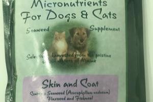 SKIN AND COAT SEAWEED MICRONUTRIENTS FOR DOGS & CATS SUPPLEMENT