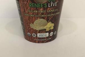 SUGAR FREE VANILLA DAIRY FREE CULTURED COCONUT CREME
