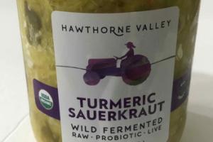 TURMERIC SAUERKRAUT WILD FERMENTED