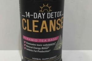 14-DAY DETOX CLEANSE PYRAMID TEA BAGS HERBAL SUPPLEMENT
