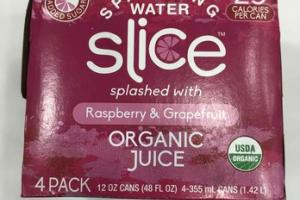 ORGANIC RASPBERRY & GRAPEFRUIT SPARKLING WATER JUICE