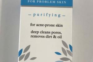 FACE WASH FOR PROBLEM SKIN PURIFYING WILLOW BARK, APPLE & HEMP SEED OIL