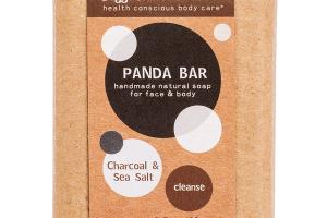 PANDA BAR FOR FACE & BODY SOAP, CHARCOAL & SEA SALT