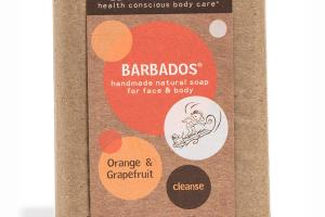 HANDMADE NATURAL SOAP FOR FACE & BODY, ORANGE & GRAPEFRUIT