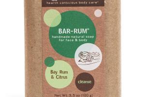BAR-RUM FOR FACE & BODY, BAY RUM & CITRUS