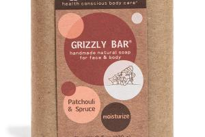 GRIZZLY BAR FOR FACE & BODY,PATCHOULI & SPRUCE