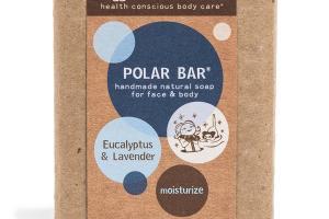 POLAR BAR HANDMADE NATURAL SOAP FOR FACE & BODY, EUCALYPTUS & LAVENDER