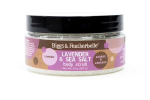 BODY SCRUB, LAVENDER & SEA SALT