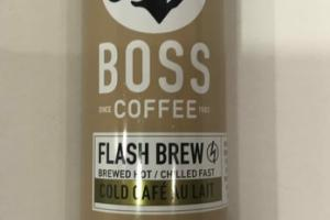 COLD CAFE AU LAIT FLASH BREW COFFEE BEVERAGE