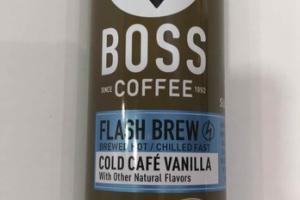 COLD CAFE VANILLA COFFEE BEVERAGE
