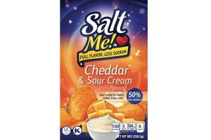CHEDDAR & SOUR CREAM FLAVORED POTATO CHIPS