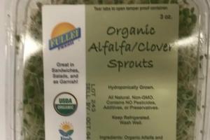 ORGANIC ALFALFA/CLOVER SPROUTS