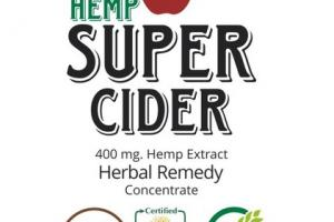 HEMP SUPER CIDER HERBAL SUPPLEMENT REMEDY CONCENTRATE