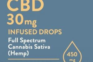 LEMONGRASS GINGER CBD 30MG INFUSED DROPS DIETARY SUPPLEMENT