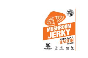 SMOKY MAPLE BACON MUSHROOM JERKY