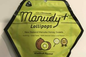 KIWIFRUIT FLAVOUR LOLLIPOPS