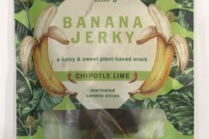 CHIPOTLE LIME BANANA JERKY PLANT-BASED SNACK