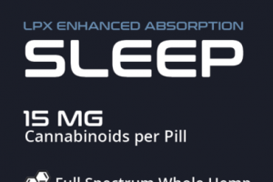 FULL SPECTRUM WHOLE HEMP LPX ENHANCED ABSORPTION CANNABINOIDS 15 MG SLEEP HEMP SUPPLEMENT PILLS