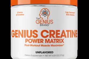 GENIUS CREATINE POWER MATRIX DIETARY SUPPLEMENT, UNFLAVORED