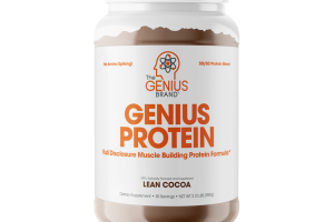 LEAN COCOA GENIUS PROTEIN FULL DISCLOSURE MUSCLE BUILDING PROTEIN FORMULA DIETARY SUPPLEMENT