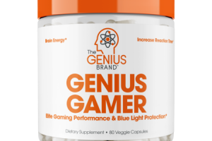 GENIUS GAMER ELITE GAMING PERFORMANCE & BLUE LIGHT PROTECTION DIETARY SUPPLEMENT, VEGGIE CAPSULES