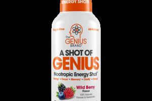 WILD BERRY A SHOT OF GENIUS NOOTROPIC ENERGY SHOT DIETARY SUPPLEMENT
