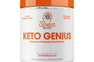 KETO GENIUS DIETARY SUPPLEMENT, WATERMELON ICE