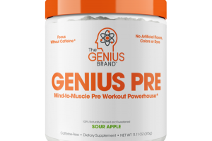 GENIUS PRE MIND-TO-MUSCLE PRE WORKOUT POWERHOUSE DIETARY SUPPLEMENT, SOUR APPLE