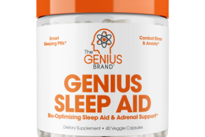 GENIUS BIO-OPTIMIZING SLEEP AID & ADRENAL SUPPORT DIETARY SUPPLEMENT VEGGIE CAPSULES