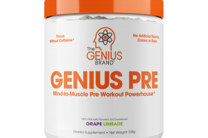 GENIUS PRE CAFFEINE-FREE DIETARY SUPPLEMENT, GRAPE LIMEADE