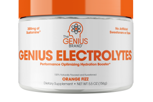 GENIUS ELECTROLYTES PERFORMANCE OPTIMIZING HYDRATION BOOSTER DIETARY SUPPLEMENT, ORANGE FIZZ