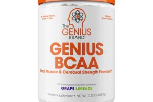 GENIUS BCAA DUAL MUSCLE & CEREBRAL STRENGTH FORMULA DIETARY SUPPLEMENT, GRAPE LIMEADE