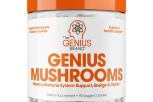 GENIUS MUSHROOMS HEALTHY IMMUNE SYSTEM SUPPORT, ENERGY & CLARITY DIETARY SUPPLEMENT VEGGIE CAPSULES