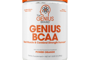 GENIUS BCAA DUAL MUSCLE & CEREBRAL STRENGTH FORMULA DIETARY SUPPLEMENT, POWER ORANGE