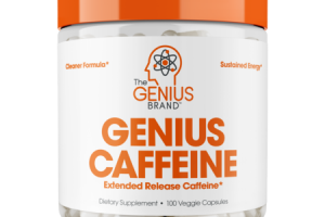 GENIUS CAFFEINE DIETARY SUPPLEMENT VEGGIE CAPSULES