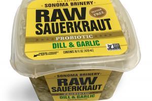 ALL NATURAL PROBIOTIC DILL & GARLIC RAW SAUERKRAUT