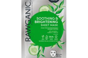 SOOTHING & BRIGHTENING SHEET MASK WITH CUCUMBER + MULBERRY + HIBISCUS