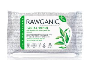 FACIAL WIPES WITH ORGANIC ALOE VERA + GREEN TEA