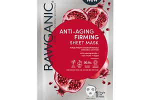 ANTI-AGING & FIRMING SHEET MASK WITH POMEGRANATE + ROSE WATER + ALGAE