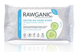 BIODEGRADABLE ON-THE-GO HAND WIPES WITH ORGANIC CUCUMBER + ALOE VERA