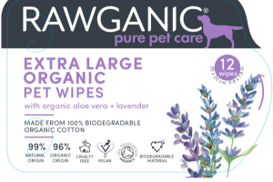 EXTRA LARGE ORGANIC PET WIPES WITH ORGANIC ALOE VERA + LAVENDER